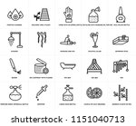 set of 20 simple editable icons ... | Shutterstock .eps vector #1151040713