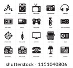 set of 20 icons such as antenna ...