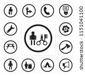 set of 13 simple editable icons ... | Shutterstock .eps vector #1151041100