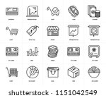 set of 20 icons such as pie...