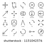 set of 20 icons such as... | Shutterstock .eps vector #1151042576