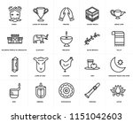 set of 20 icons such as lotus ...