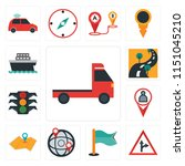 set of 13 simple editable icons ... | Shutterstock .eps vector #1151045210