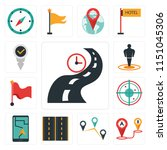 set of 13 simple editable icons ...   Shutterstock .eps vector #1151045306