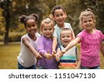 large group of multi ethnic... | Shutterstock . vector #1151047130