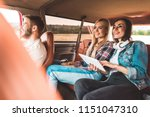 young group of friends sitting... | Shutterstock . vector #1151047310
