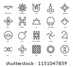 set of 20 icons such as gemini  ... | Shutterstock .eps vector #1151047859