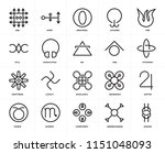 set of 20 icons such as wisdom  ... | Shutterstock .eps vector #1151048093