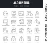 set of linear icons of... | Shutterstock .eps vector #1151048510