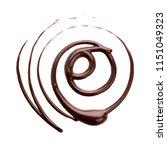round decorative hot chocolate... | Shutterstock . vector #1151049323