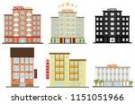 hotel  hotel icon  hostel. flat ... | Shutterstock .eps vector #1151051966