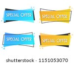 special offer sale banner for... | Shutterstock .eps vector #1151053070