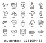 set of 20 icons such as pliers  ...