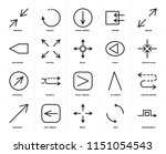 set of 20 icons such as... | Shutterstock .eps vector #1151054543