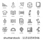 set of 20 icons such as biology ...