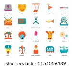 set of 20 icons such as snow...
