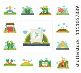 set of 13 simple editable icons ... | Shutterstock .eps vector #1151057339