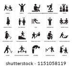 set of 20 simple editable icons ... | Shutterstock .eps vector #1151058119