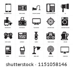 set of 20 icons such as...