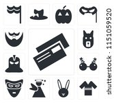 set of 13 simple editable icons ... | Shutterstock .eps vector #1151059520