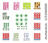 set of 13 simple editable icons ... | Shutterstock .eps vector #1151060000