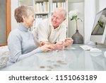 senior couple of retirees ...   Shutterstock . vector #1151063189