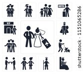 set of 13 simple editable icons ... | Shutterstock .eps vector #1151065286