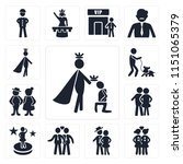 set of 13 simple editable icons ... | Shutterstock .eps vector #1151065379