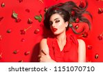 beauty sexy model girl lying on ... | Shutterstock . vector #1151070710