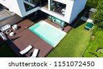 exterior modern white villa...   Shutterstock . vector #1151072450