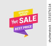 hot sale banner and poster... | Shutterstock .eps vector #1151076116
