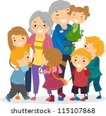 illustration of kids trying to... | Shutterstock .eps vector #115107868