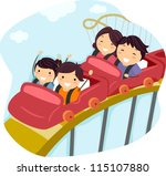 illustration of a family riding ... | Shutterstock .eps vector #115107880