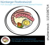 an image of a german sausage... | Shutterstock .eps vector #115108714