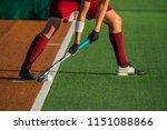 field hockey player  ready to... | Shutterstock . vector #1151088866