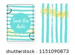 bridal shower card with dots... | Shutterstock .eps vector #1151090873