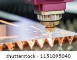 high precision cnc laser... | Shutterstock . vector #1151095040
