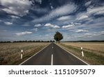 straight  endless road in... | Shutterstock . vector #1151095079