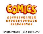 comics style font  alphabet... | Shutterstock .eps vector #1151096690