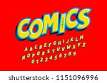 comics style font  alphabet... | Shutterstock .eps vector #1151096996