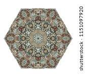 hexagonal mandala design... | Shutterstock . vector #1151097920