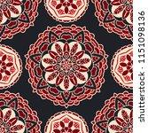 luxury star damask seamless... | Shutterstock . vector #1151098136