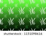 green grass pattern | Shutterstock . vector #1151098616