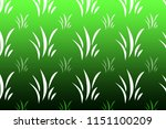 green grass pattern | Shutterstock . vector #1151100209
