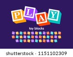Toy Blocks Font  Alphabet...