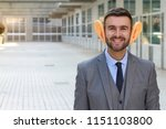 big eared businessman smiling... | Shutterstock . vector #1151103800