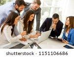 business people brainstorming... | Shutterstock . vector #1151106686