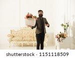 florist concept. happy florist... | Shutterstock . vector #1151118509