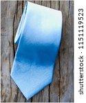 beautiful blue tie | Shutterstock . vector #1151119523