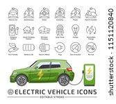 electro vehicle editable stroke ... | Shutterstock .eps vector #1151120840